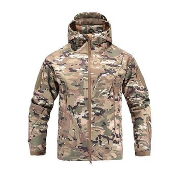 Tactical Military Jacket Men's Outdoor Sport Camping Hiking Softshell Waterproof Windproof Warm Camouflage Hunting Clothes