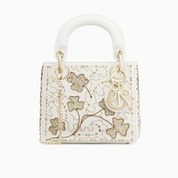 Mini Lady Dior bag in embroidered calfskin - Dior