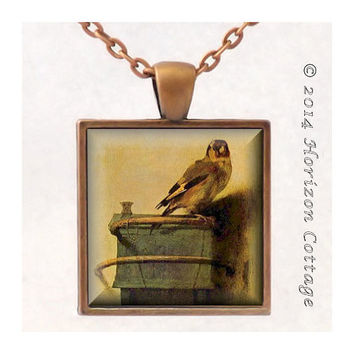 The Goldfinch by Carel Fabritius - Old Masters' Classic Artwork - Key Ring or Pendant - Your Choice of Finish