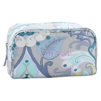 Sleepover Gray Jewel Damask Medium Toiletry Case