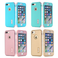 Shockproof Full Protective Case for iPhone 7 7 Plus 6 6S Plus 5 5S SE Luxury Hybrid Silicone Armor Hard Back Cover for 7/7 Plus