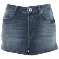 Mid Wash High Waisted Short - Denim Shorts & Skirts - Jeans & Denim  - Apparel - Miss Selfridge US