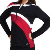 Prepare to Shine in the Impact Metallic Cheerleader Warm-Up Track Jacket by Chasse Cheer