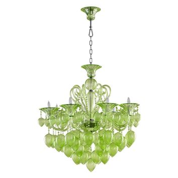 Cyan Design Bella Vetro Murano Glass 8 Light Chandelier | Green