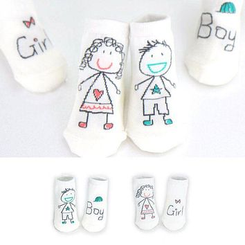 Fashion 1 Pair Baby Boy Girl Cartoon Cotton Socks New Born Infant Toddler Kids Soft Sock