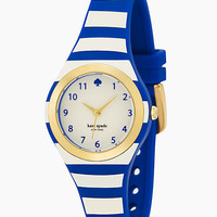 Kate Spade Stripe Rumsey Watch Navy/Cream ONE