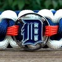Detroit Tigers Paracord Bracelet Exact Wrist Measurement Required