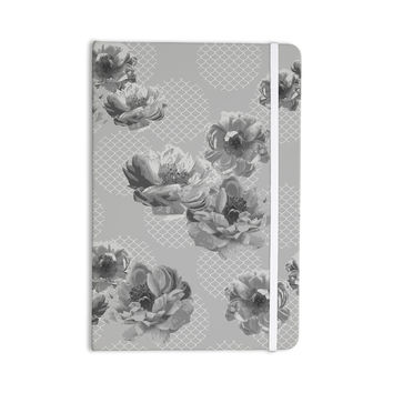 "Pellerina Design ""Lace Peony in Gray"" Grey Floral Everything Notebook"