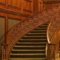 Turning Wooden Staircase Photography Backdrop - 1364