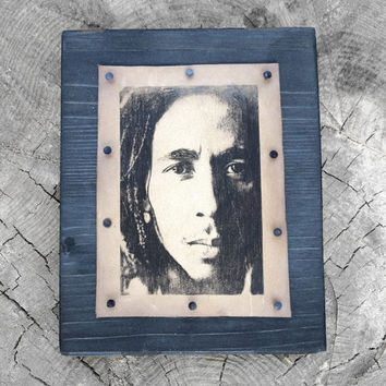 Bob Marley Wall Art Print Reggae Rasta Portrait Painting Rastafarian Bobmarley Unique Ideas Gift Three Little Birds One Love One Heart 8'x6'