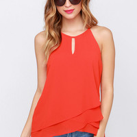 The Whole Truth Red Orange Top