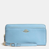 MADISON DOUBLE ACCORDION ZIP WALLET IN LEATHER