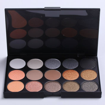 Cosmetic 15 Colours Earth Colour Pearl Matte Eye Shadow Palette