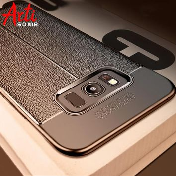 b0b9b93a95a Carbon Case For Samsung Galaxy Note 8 9 S8 Plus Cover Leather TP