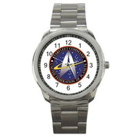 Star Trek Federation of Planets on a Mens Silver Sports Watch
