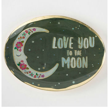 Natural Life Glass Tray - To The Moon