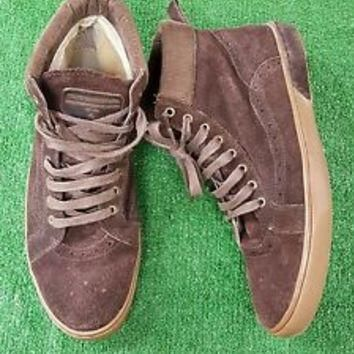 Steve Madden Uzzi Mens Shoe sneaker Size 10 brown suede high tie up EUC