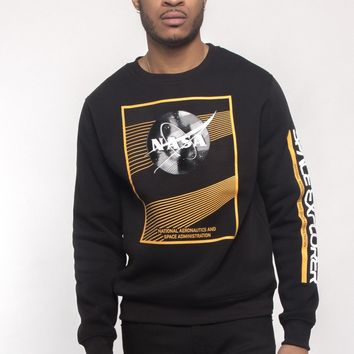 Nasa Texture Welding Fleece Crewneck