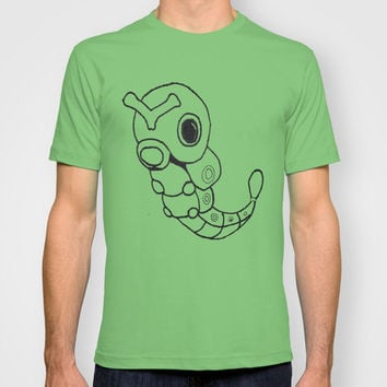 Pokemon Graphic T-Shirt: Caterpie Sketch  MENS + WOMANS