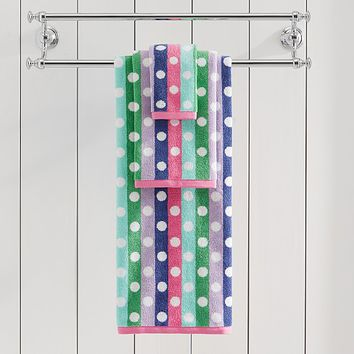 Multi Dot Bath Towel Collection