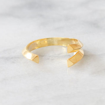 Asymmetrical Ring, Open Ring, Stacking Ring, Sterling Silver Ring, 14kt Gold Vermeil Ring, Geometric Ring, Everyday Ring, Simple Gold Ring