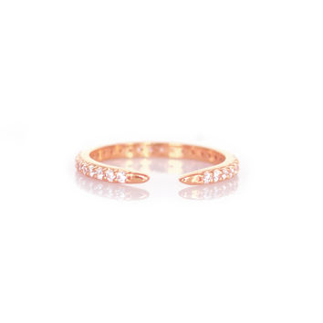 Rose Gold Diamond Talon Ring