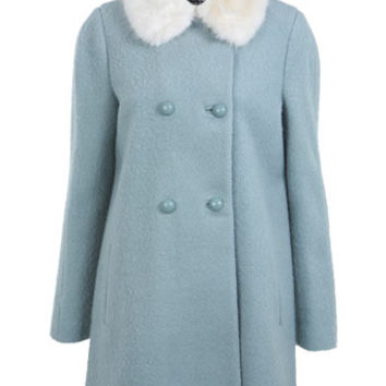Duck Egg Pea Coat