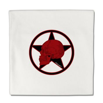 "Blood Red Skull Micro Fleece 14""x14"" Pillow Sham by TooLoud"