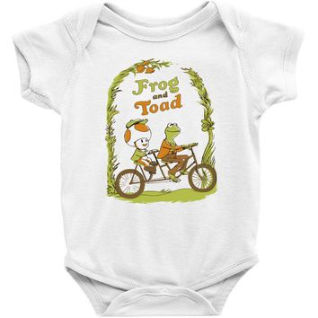 frog & toad Baby Bodysuit