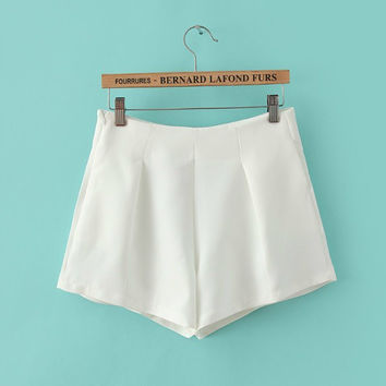 Summer Korean Women's Fashion Stylish High Rise Shorts [6047395457]