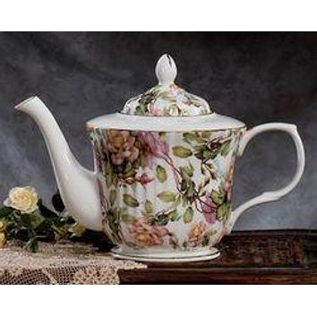 Rare Royal Patrician Bone China Lauren Pattern Teapot - Only 2 Available!
