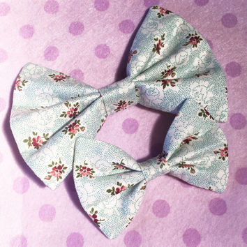 Dotted Floral Bow