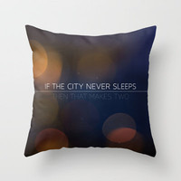 The City Throw Pillow by Galaxy Eyes | Society6