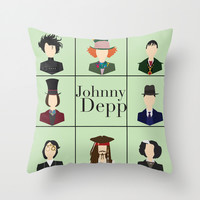 Johnny Depp Character Print Throw Pillow by LoverlyPhotos