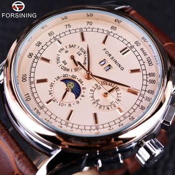 Forsining GMT912 Moon Phase Luxury Auotmatic Watch