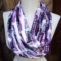 Supernatural Infinity Scarf, Comic Con, Sci Fi, Knit Jersey, Dean and Sam Winchester, Teen Scarf,Scarf