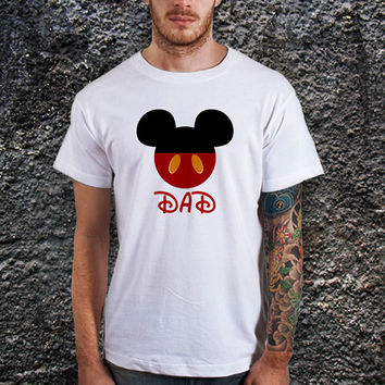 Mickey Mouse Dad Shirt, Mickey Disney Head, Mickey for Dad Gift Men T-Shirt (various Color Available)