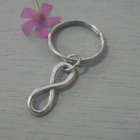 I Love You Infinity Symbol  KeyChain Eternal Love Friendship Infinity Sign Charm Infinite Love Key Chain