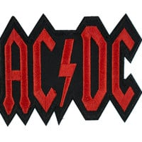 AC/DC Patch Iron on Applique Alternative Clothing Back in Black Shook Me All Night Long