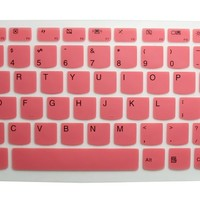 "Ultra Thin Silicone Gel Keyboard Protector Cover Skin for IBM Lenovo IdeaPad U300 U300s U310 U400 U410 U430 U430p Z400 P400 S300 S400 S405 YOGA 13-IFI, Yoga 2 13"", Yoga 3 14"", Yoga 700 14"", Yoga 900 13.3"" 2-in-1 Touch-Screen Laptop US Layout (Semi-Pink)"