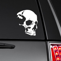 Skull Bumper Sticker Vinyl Decal Zombie The Walking Dead Apocalypse  Babe Hot Chick Dope Turbo