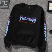 Thrasher Hot Sale Fashion Round Neck Pullover Print Sweater