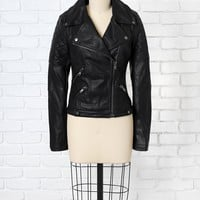 Quilted Vegan Leather Moto Jacket