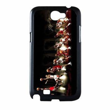 CREYUG7 Michael Jordan NBA Chicago Bulls Dunk Samsung Galaxy Note 2 Case