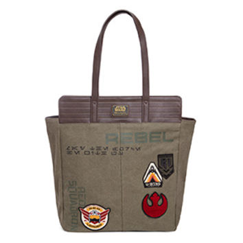 Rebel vs. Empire Twill and Vegan Leather Tote