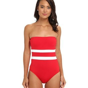 Lauren Ralph Lauren Striped One Piece Halter Swimsuit Size 8