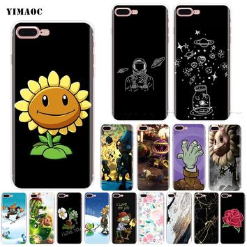 YIMAOC Plants Vs Zombies Soft Silicone Case for iPhone XS Max XR X 8 7 6 6S Plus 5 5s se