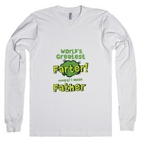 World's Greatest Father-Unisex White T-Shirt
