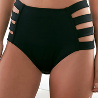 LA Hearts Strap Side High Rise Bikini Bottom at PacSun.com