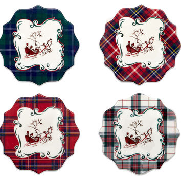 Winter's Eve Deluxe Coasters, Set of 4, Coasters